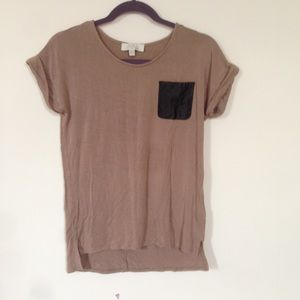 Draping top with glitter pocket